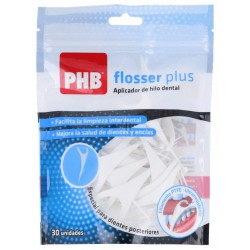 PHB FLOSSER PLUS APLICADOR HILO DENTAL 30 UDS