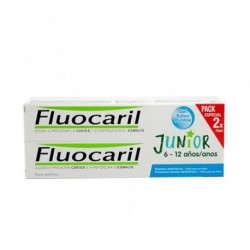 FLUOCARIL JUNIOR DENTÍFRICO 6-12 AÑOS SABOR BUBBLE DUPLO 2X75ML