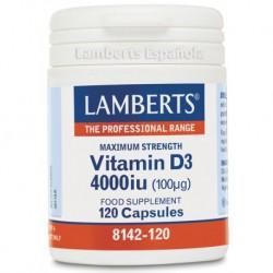 LAMBERTS VITAMINA D3 4000UI 120 CAPSULAS