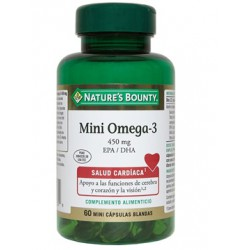 NATURE'S BOUNTY MINI OMEGA-3 EPA/DHA 60 CAPSULAS