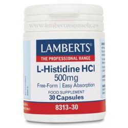 LAMBERTS L-HISTIDINA HCI 500MG 30 CAPS