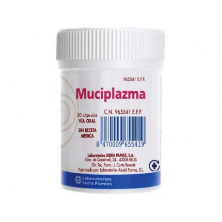 MUCIPLAZMA 500 MG 50 CAPSULAS