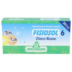 SPECCHIASOL FISIOSOL 06 ZN-CU 20 AMPOLLAS