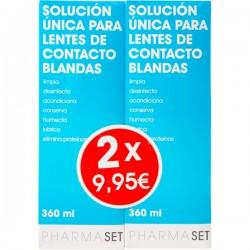 PHARMASET LIQUIDO LENTES DE CONTACTO BLANDAS 2X360ML