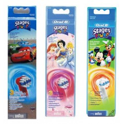 RECAMBIO CEPILLO DENTAL ELECTRICO ORAL-B STAGES INFANTIL 3 RECAMBIOS