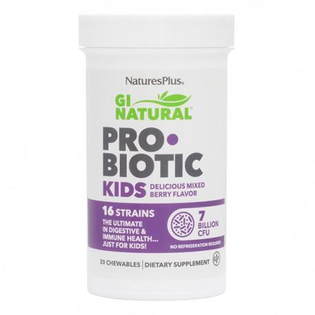 NATURE'S PLUS GI NATURAL PROBIOTIC KIDS 30 COMPRIMIDOS MASTICABLES