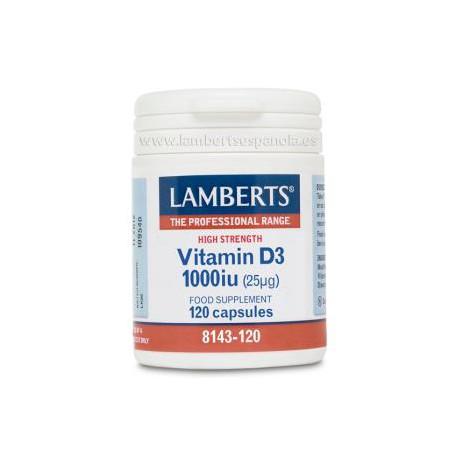 LAMBERTS VITAMINA D3 1000UI 120 CÁPSULAS