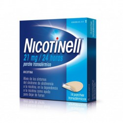 NICOTINELL 21MG/24H 14 PARCHES TRANSDERMICOS 52,5MG