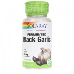 SOLARAY FERMENTED BLACK GARLIC - AJO NEGRO 500MG 50 CAPSULAS