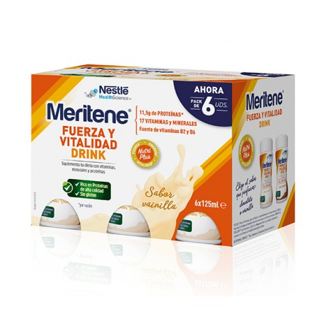 MERITENE DRINK VAINILLA PACK 6X125ML UNIDADES