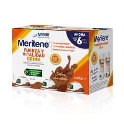 MERITENE FUERZA Y VITALIDAD DRINK PACK CHOCOLATE 6 U X 125 ML