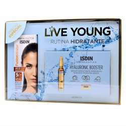 ISDIN LIVE YOUNG RUTINA HIDRATANTE: FUSION WATER + HYALURONIC BOOSTER
