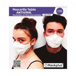 MASCARETA ANTIVIRAL ADULT MASKPLUS + 10 FILTRES