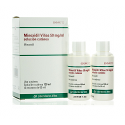 MINOXIDIL VIÑAS 5% 50MG/ML SOLUCION CUTANEA 2X60ML