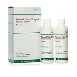 MINOXIDIL VIÑAS 5% 50MG/ML SOLUCION CUTANEA 2X120ML