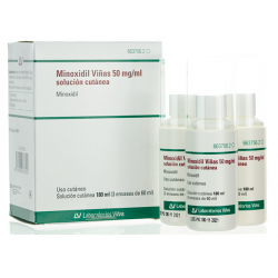 MINOXIDIL VIÑAS 5% 50MG/ML SOLUCION CUTANEA 3x60ML