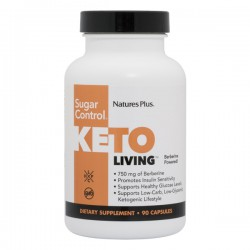 NATURE'S PLUS KETO LIVING SUGAR CONTROL 90 CAPSULAS