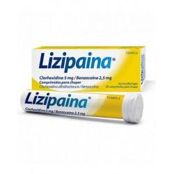 LIZIPAINA CLORHEXIDINA/BENZOCAINA 5/2,5MG 20 COMPRIMIDOS PARA CHUPAR
