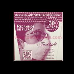 FILTRO MASCARILLA ANTIVIRAL FANTEXFIL 30 UNIDADES