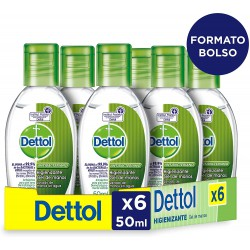 DETTOL PACK 6 UNIDADES DE 50ML
