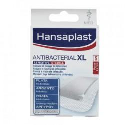 HANSAPLAST ANTIBACTERIAL XL APÓSITOS SENSITIVE CON PLATA  6X7CM 5 TIRAS