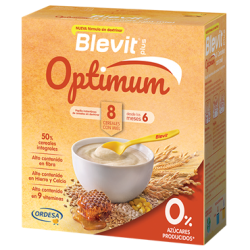 BLEVIT PLUS OPTIMUM 8 CEREALES CON MIEL 400G