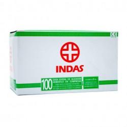 INDAS GASA ESTERIL 10X10CM 100 UDS (20 PAQUETES DE 5 UDS)