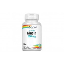 SOLARAY VITAMINA B3 NIACINA 500MG 100 CAPSULAS