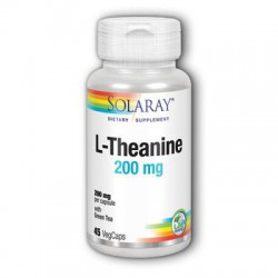 SOLARAY L-THEANINE 200MG 45 CAPSULAS