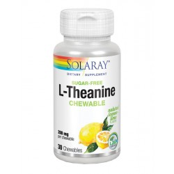 SOLARAY L-THEANINE - TEANINA 200MG 30 COMPRIMIDOS MASTICABLES