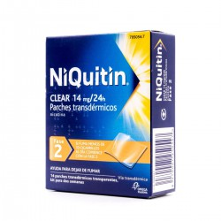 NIQUITIN CLEAR 14 MG/24 H 14 PARCHES TRANSDERMICOS