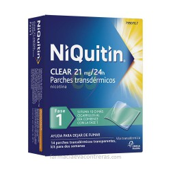 NIQUITIN CLEAR 21 MG/24 H 14 PARCHES TRANSDERMICOS