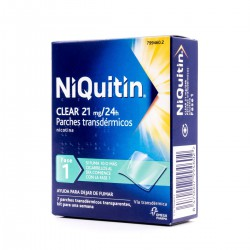 NIQUITIN CLEAR 21 MG/24 H 7 PARCHES TRANSDERMICOS