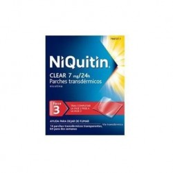 NIQUITIN CLEAR 7 MG/24 H 14 PARCHES TRANSDERMICOS