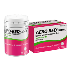 AERO RED 120 MG 40 COMP SABOR MENT