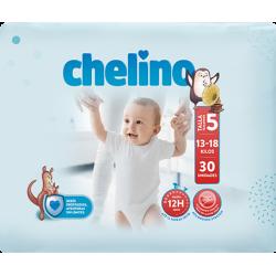 PAÑAL INFANTIL CHELINO TALLA 5 (13 - 18 KG) 30 UDS
