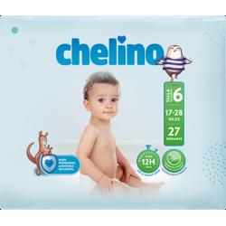 PAÑAL INFANTIL CHELINO TALLA 6 (17 - 28KG) 27UDS
