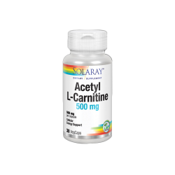 SOLARAY ACETIL L-CARNITINA 500MG 30 CAPSULAS