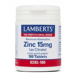 LAMBERTS ZINC 15MG 180 COMP