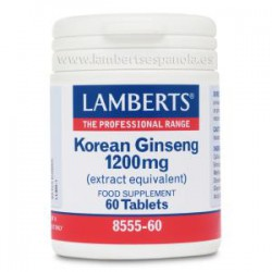 LAMBERTS KOREAN GINSENG 1200MG 60 CAPS