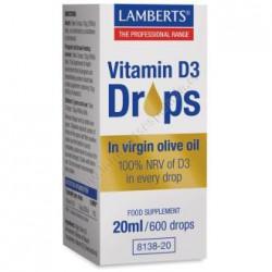 LAMBERTS VITAMINA D3 DROPS 20ML