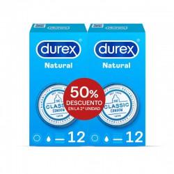 DUREX NATURAL DUPLO 12+12 PRESERVATIVOS