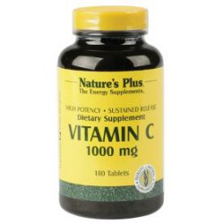 NATURES PLUS VITAMINA C 1000 MG 180 TABLETAS