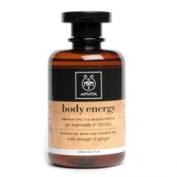 APIVITA BODY ENERGY GEL BAÑO ENERGY TARONJA GINGEBRE 300ML