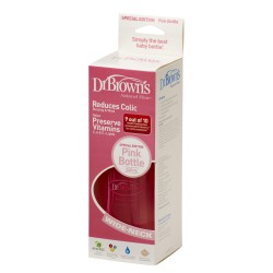 BIBERON DR BROWN'S BOCA ANCHA 240ML ROSA