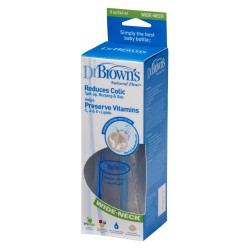 BIBERON DR BROWN´S  BOCA ANCHA 240ML AZUL