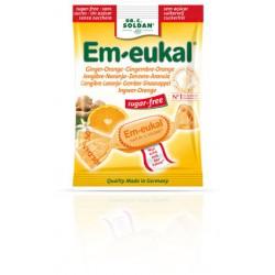 CARAMELOS EM-EUKAL JENGIBRE NARANJA S/A