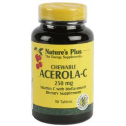 NATURE'S PLUS ACEROLA C 250MG 90 COMPRIMIDOS MASTICABLES