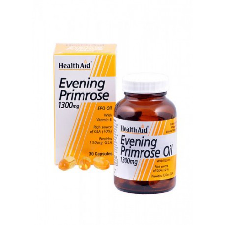 NUTRINAT HEALTH AID EVENING PRIMROSE.OIL 1300MG. H.A. 30C