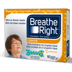 TIRAS NASALES BREATHE RIGHT JUNIOR 10 TIRAS
